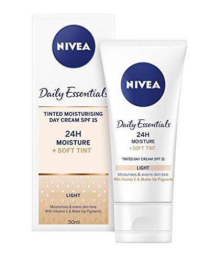 Bester der welt 3x Nivea® Daily Essential Natural Tint Feuchtigkeitsspendende Tagescreme SPF8, 50 ml
