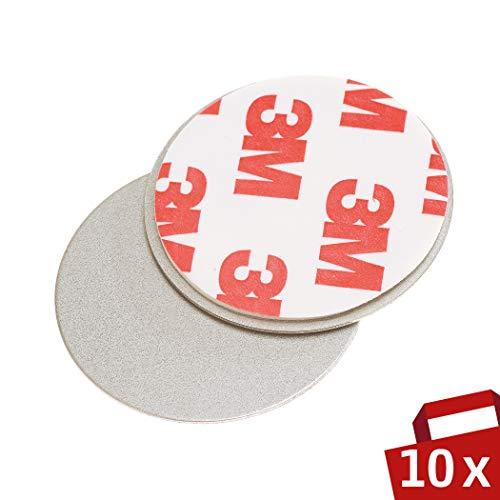 Magnet Befestigung für Rauchmelder 10er Set – Für einfache und sichere Montage ohne Bohren – Magnethalter Ø 35mm für Feuermelder – Brandmelder Magnethalterung Haltekraft 500g