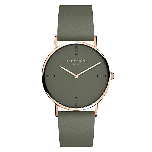 Liebeskind Berlin Damen Analog Quarz Uhr mit Leder Armband LT-0204-LQ
