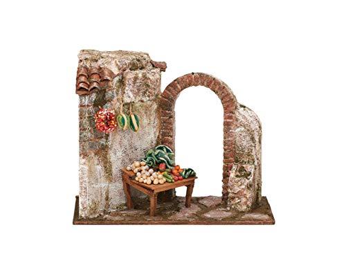 Fontanini - Tienda de productos para la colección de belén a escala de 5 pulgadas, 8.5 pulgadas de alto, hecho a mano en Italia, mezcla de resina y piedra, realista, decoración navideña, coleccionable, adorable regalo