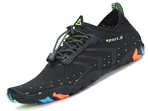 Pastaza Nokian Footwear Wasserschuhe Schwimmschuh Schnell Trocknend Badeschuhe Strandschuhe Wassersport Schuhe für Herren Damen Unisex, 38 EU, Schwarz