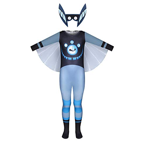 JCHEGN Boys Bat Costume Kids Play Costume with Wings and Face Accessories Halloween Cosplay Jumpsuit