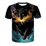 XDJSD Camiseta para Hombre Camiseta Corta Camiseta De Manga Corta para Hombre Camiseta De Gran Tamaño para Hombre Camiseta Deportiva De Color Sólido Camiseta con Estampado De Tigre
