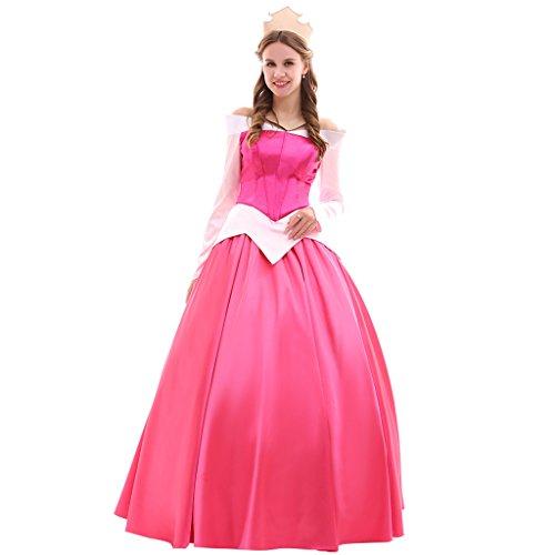 Fortunehouse Disfraz de princesa durmiendo Aurora Cosplay para mujer