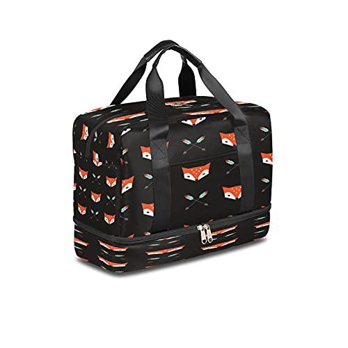 LIFE5LCL Fox Animal Freccia Sport Borse Duffel 16.14*8.27*11.81 Pollice Gym Bag Viaggio Duffel Borse per Uomini Donne