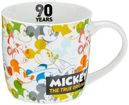 Disney Mickey Mouse 12055Disney Mickey 90años transparente taza, taza de porcelana, taza de café, porcelana, multicolor