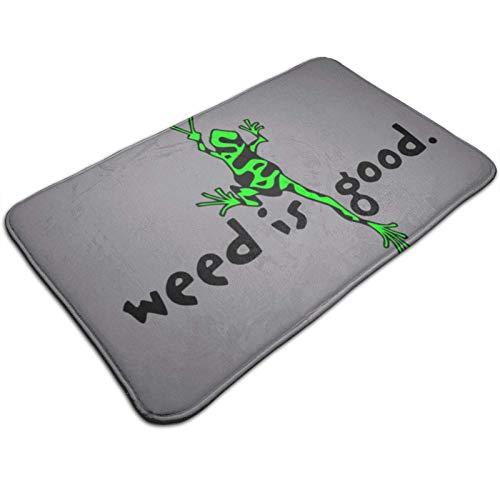 Alfombrilla de Suelo y Felpudo de Puerta 19,5X31,5 Pulgadas Peace Weed Frog Weed Felpudo Antideslizante Alfombra de Interior y Alfombrilla de cocina50X80cm 50X80cm