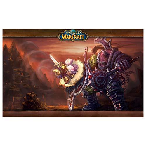 CFTGB World of Warcraft WOW Hellfire Citadel - Alfombrilla de ratón para videojuegos (tamaño: 900 x 400 x 3 mm)