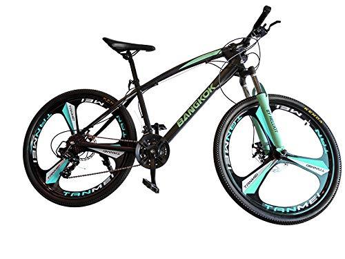 Helliot Bikes by Bangkok Crazy Creativity Bicicleta de Montaña, Adultos Unisex, Verde/Azul, Talla Única