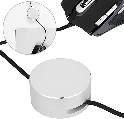 BUZIFU Mouse Bungee Mouse Cable Management Aluminium Alloy Clips for Charger Cable 1 Pack Mouse product image