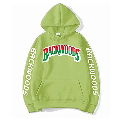 GIRLXV Pullover Hombres Y Mujeres Street Backwoods Sudadera con Capucha con Puños Roscados Sudadera con Cordón De Hip-Hop S