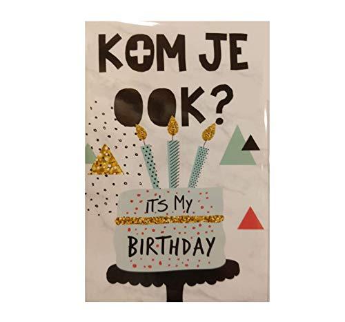 Uitnodigingskaarten - Kom je ook? It's my birthday - 6st.