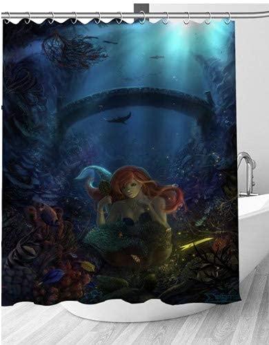 La sirena nel mare delle sirene ha trovato il mito dei forzieri dei pirati tenda da doccia artistica...
