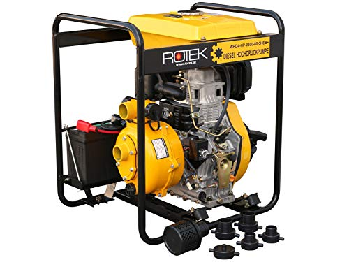 Hochdruck Motorpumpe mit 4-Takt Dieselmotor WPD4-HP-0300-80-5HEB+, bis zu 75m Förderhöhe