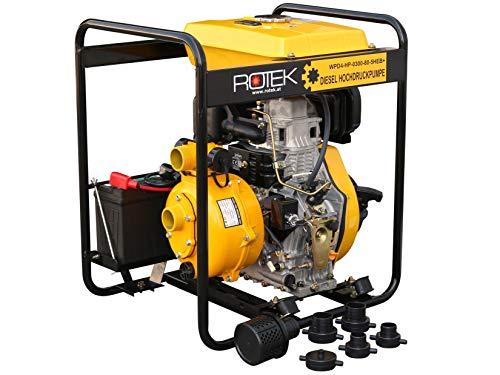 Hochdruck Motorpumpe mit 4-Takt Dieselmotor WPD4-HP-0300-80-5HEB+, bis zu 80m Förderhöhe
