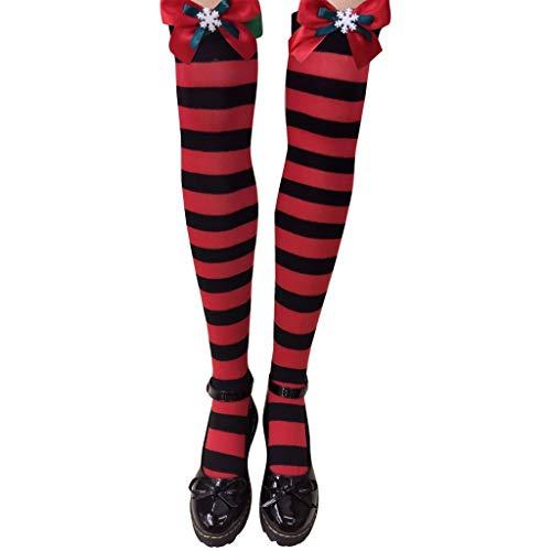 Heetey - Calcetines de invierno para mujer, con cable de carga larga,...