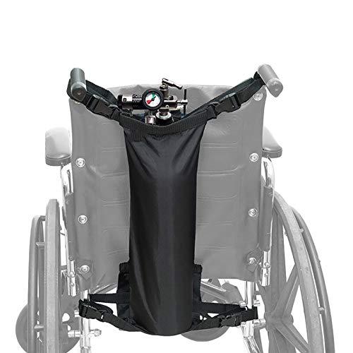 N \ A Aufhängetasche Zur Aufbewahrung Von Sauerstoffflaschen, Deluxe-Rollstuhl-Tragetasche Für Sauerstoffflaschen, Rollstuhl-Rückenlehne Sauerstofftankhalter, Schwarz (beliebige Sauerstoffflaschen)