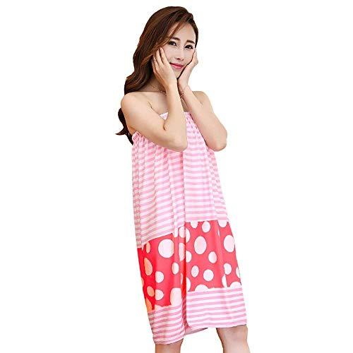 HaiDean Shop, badhanddoek, vrouwelijk, draagbaar, badhanddoek, volwassenen, dik, badjas, vest, jongens, chic model, pyjama's, badpak, sauna, spa, douche, zwemmen, strandhanddoek, kleur 1#