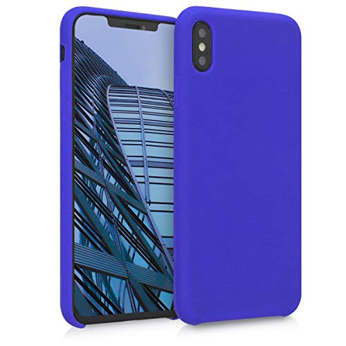 kwmobile TPU Silicone Case Compatible with Apple iPhone Xs Max - Case Slim Protective Phone Cover with Soft Finish - Royal Blue