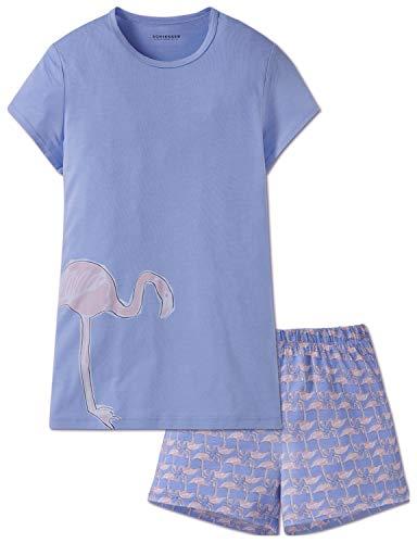 Schiesser Mädchen Anzug kurz Zweiteiliger Schlafanzug, Blau (Hellblau 805), 176 (Herstellergröße: L)