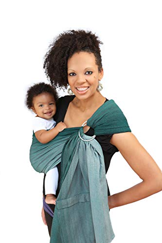 Product Image of the Maya Wrap Lightly Padded Ring Sling | Ergonomic Baby Carrier | Integrated Pocket...