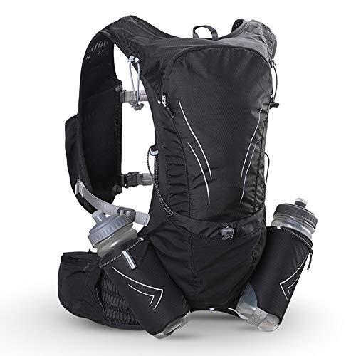 KOUPA Chaleco Ultraligero para Correr de 15L, Mochila Marathon, con Sistema de Montaje de 2 Botellas de Agua - para Caminar, Esquiar, Trotar, Andar en Bicicleta y Acampar