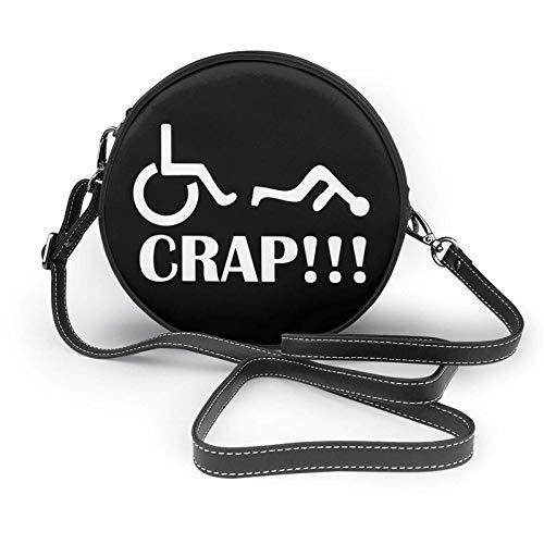 Oh Mist Rollstuhl Fail Shoulder Ledertasche, kleine Umhängetasche, ultraleichte Geldbörse, waschbare Umhängetasche, für Frauen