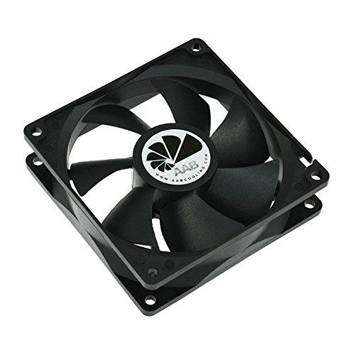 AABCOOLING Fan 9 - Un Silencioso Ventilador PC de la Serie Económica, Fan PC, Ventilador Laptop, Cooler 9cm, 92mm Ventilador 12V, 68 m3/h, 2200 RPM 25 dB (A)