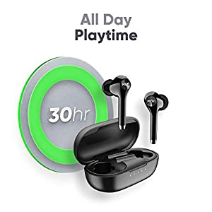 Mivi DuoPods M80 True Wireless Bluetooth Earbuds with Qualcomm Aptx, Studio Sound, Powerful Bass, 30 Hours of Battery and Ear pods with Touch Control - Black