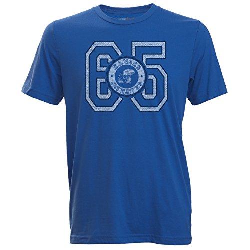 Camp David NCAA Cruiser Herren-T-Shirt mit Rundhalsausschnitt, Herren, Cruiser, königsblau, XX-Large