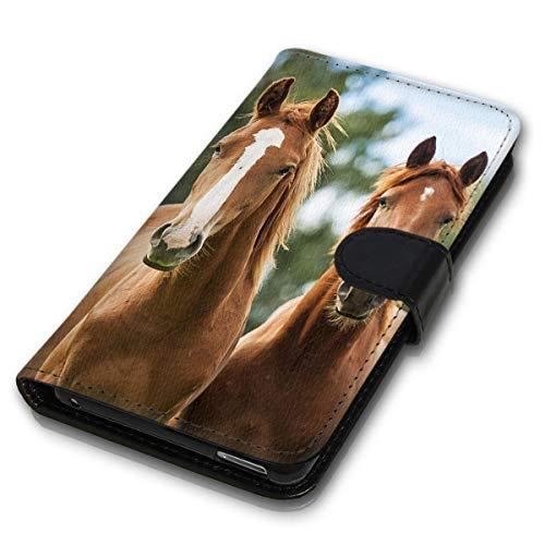 klocktec Book Flip Handy Tasche Case Schutzhülle Samsung Galaxy A50 Pferd (MV+758)