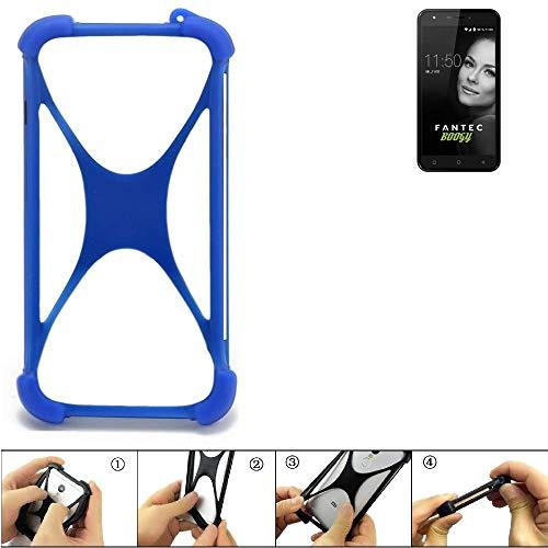 K-S-Trade® Handyhülle Für FANTEC Boogy Silikon Schutz Hülle Cover Case Bumper Silikoncase TPU Softcase Schutzhülle Smartphone Stoßschutz, Blau (1x),