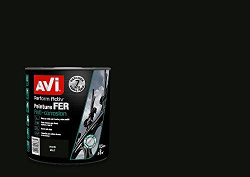 AVI - PERFORM ACTIV FER - Peinture Anti Corrosion - Brillant - Noir Mat