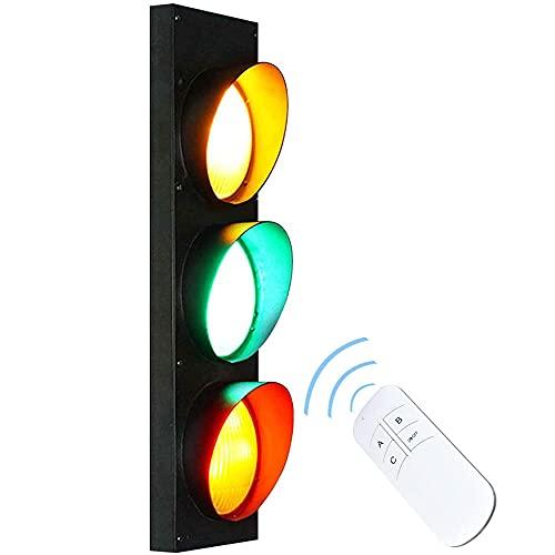 HGJDKSJ Traffic Light Bañadores de Pared con Control Remoto, Apliques de Pared con Control Remoto Luces Ajustables, Habitación Niños Jardín de Infantes Juguete Educación Decorativo, 5W*3