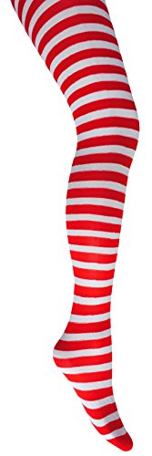 Mysasi Women's Striped Tights. Size. M. Red and White.