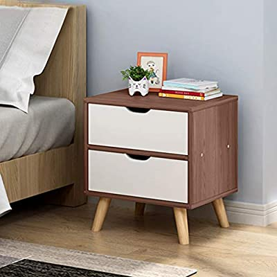 Amazon - Save 80%: US Stock Assemble Storage Cabinet,Modern Bedside Locker with Double Draw…