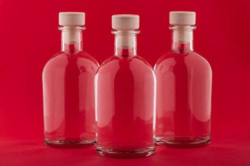 12 Leere Flaschen 250 ml New-BOST-GRIFFKORKEN Apotheker Likörflaschen Glas-Flaschen Essigflaschen Ölflaschen Wasserflaschen 0,25 Liter l Flasche zum selbst befüllen von slkfactory