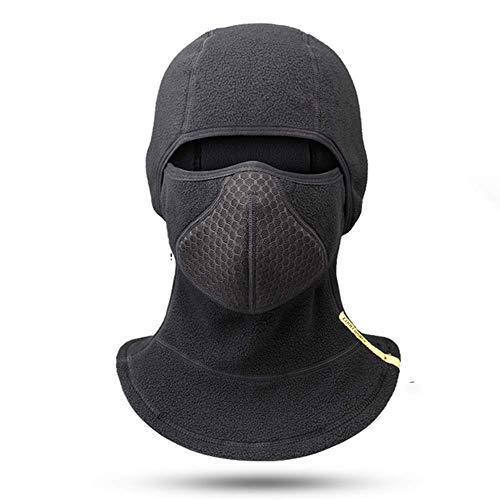 Joe Boxer Ski-Maske, Hals Gamasche Warmer windundurchlässiges Fleece Mask - Free UV-Gesichtsmaske Schwarz,Schwarz
