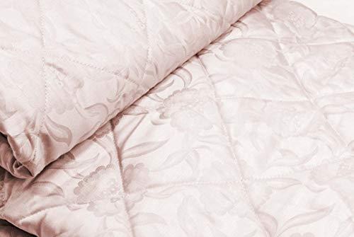 Manifattura Toscana Tagesdecke Gesteppte Baumwoll-Satin Jaquard Floral - Rosa, Single