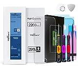 Trop Saint® Batería Interna para iPhone 6S - Alta Capacidad (2200mAh/3,82V) 29% más de Carga - con Instrumentos, Pegatinas Adhesivas y Vidrio Templado