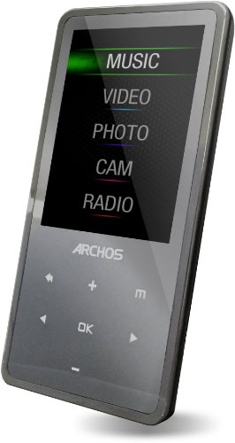 Archos 24c vision MP4-Player, 8 GB, 6,1 cm (2,4 Zoll) Farb-Display, FM-Radio, Camcorder, Kamera, Mikro