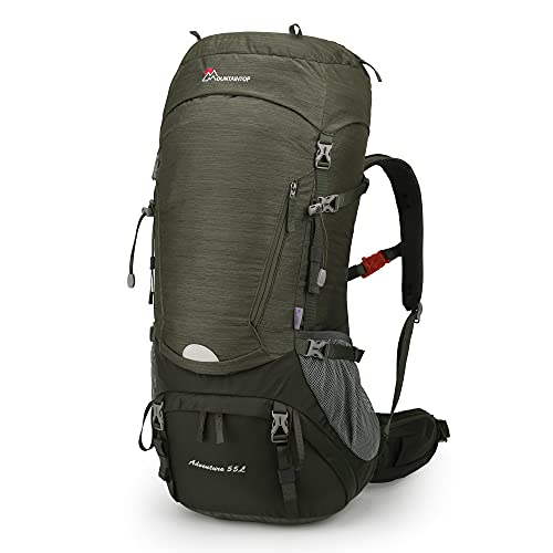 MOUNTAINTOP 55L Wanderrucksäcke Trekkingrucksack für Camping Wandern Bergsteigen Reisen mit Regenhülle