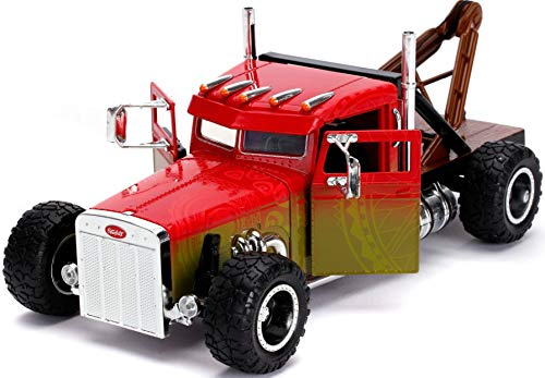 Fast & Furious Presents: Hobbs & Shaw Hobbs' 1:24 Custom Peterbilt Truck Die-cast Car, Toys for Kids and Adults