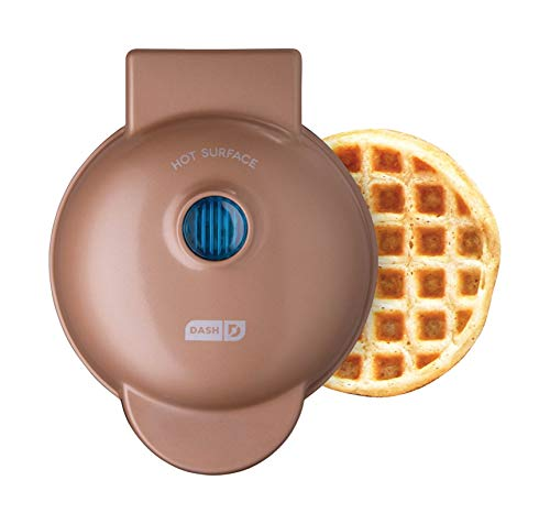 Dash DMW001CU Mini Maker Iron for Individual Waffles, Paninis, Hash Browns, Other on The go Breakfast, Lunch, or Snacks, Copper