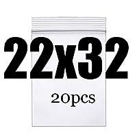 ハイエンドクリア太いジュエリー収納袋小再閉鎖可能なプラスチックのポリジップバッグを梱包ジップロックロックの袋食品パッケージ真空ジップ (Color : 22X32CM 20pcs)