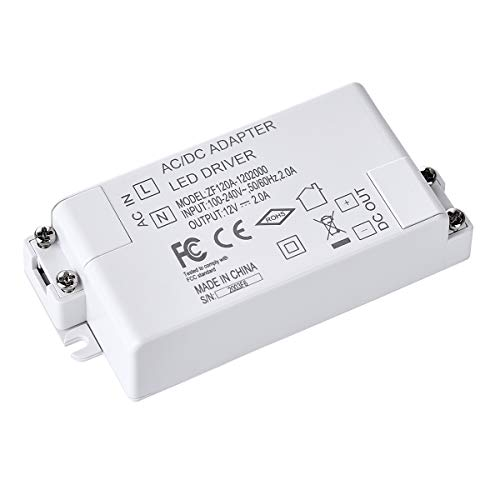 LED Transformator DC 12V 24 Watt LED Mini Trafo Netzteil Treiber Driver Niedervolt für G4, GU4, GU5.3, MR16, MR11 Leuchmittel LED-Lampen