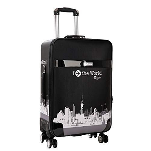 Mdsfe Retro Password Box Trolley Maleta de Gran Capacidad con Ruedas Bolsas de Viaje Equipaje con Ruedas - 2,20'