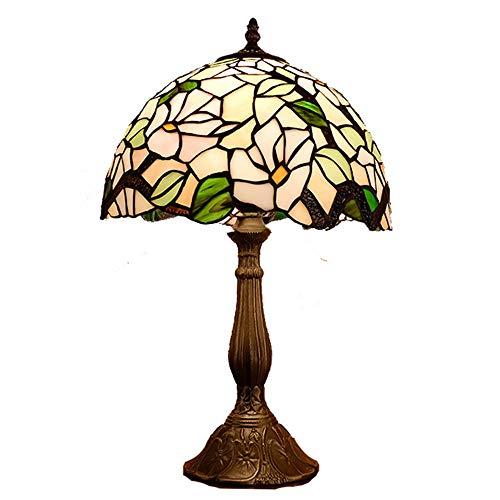 Lámpara de escritorio LED Lámpara De Mesa De La Sala De Estar Retro, Lámpara De Noche Decorativa Decorativa De Cristal Con Luz LED for Dormitorio, Estudio, Hecha A Mano, Sin Radiación De Luz Nocturna