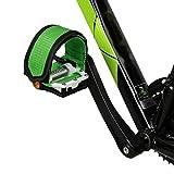 poundy bags 2PCS Bike Pedal Straps Pedal Toe Clips Straps Tape for Fixed Gear Bike Anti-Slip Bicycle Feet Strap