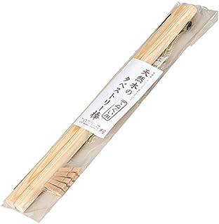 Yamako 89242 - Barra de cortina de madera natural Hinoki para tapiz japonés Tenugui